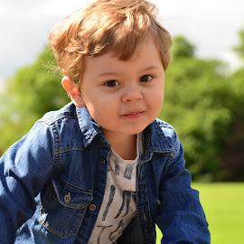 my son by Woocash New - Babies & Children Child Portraits ( kid child son cute park )