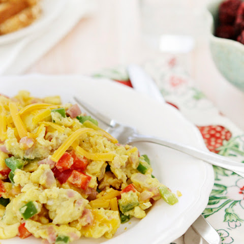 Egg Scramble with Ham and Peppers