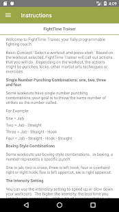 FightTime MMA Trainer Fitness app screenshot for Android
