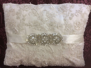 Cushion made from Wedding Dress