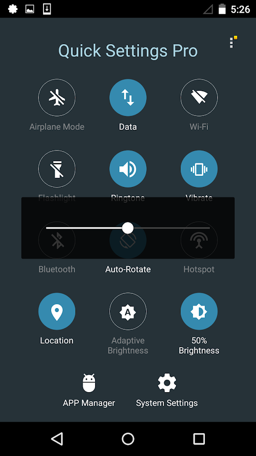 Quick Settings Pro - Toggle Screenshot 3