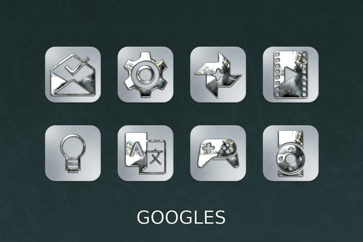 Silver Chrome Icon Pack Screenshot 10