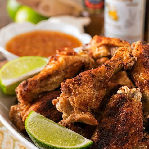 Crispy Asian Chicken Wings with Ginger-Lime Dipping Sauce