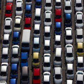 Car park by Anthony Allen - Transportation Automobiles ( automobiles, parking lot, traffic jam, cars, car park, gridlock )