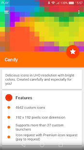 Candy - icon pack Screenshot