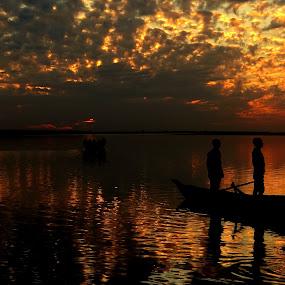 by Simanta Hazarika - Transportation Boats
