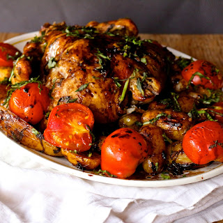 Balsamic Roast Chicken+ How to make Balsamic Reduction