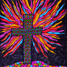 Resurrection by Amada Gonzalez - Painting All Painting ( christian, cross, abstract, easter, crucifix )