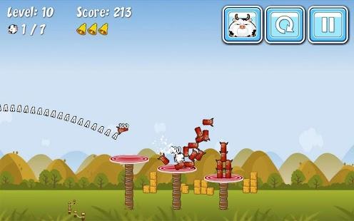 Cowaboom - Launch the cow ! – Miniaturansicht des Screenshots