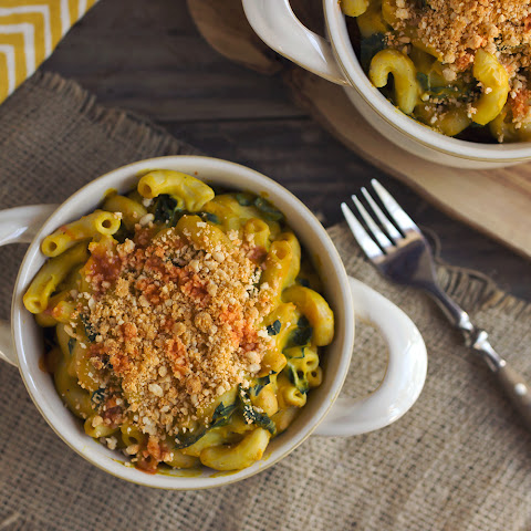 "Spicy Butternut Squash and Kale ""Cheezy"" Mac {gluten-free, vegan & nut-free}"