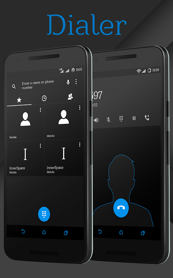 Sense Black/Blue cm13 theme Screenshot 3