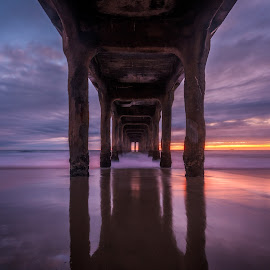 Manhatten Beach Pier by Tzvika Stein - Buildings & Architecture Bridges & Suspended Structures ( santa monica, leslie )