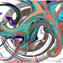 The wild Cat by Joerg Schlagheck - Digital Art Abstract ( cat, dead. wild., gong show, battery, deadly, warning, note, squirrel )