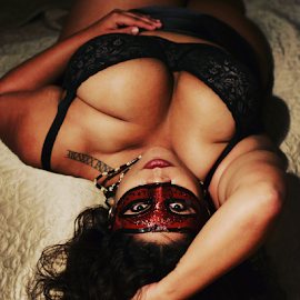 She wore black by Mitchell  Grosvenor - Nudes & Boudoir Boudoir ( sexy, latina, boudoir, women )