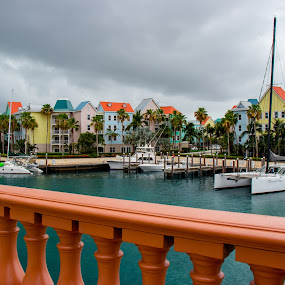 Colorful Condos 2 by Debbie Jones - Landscapes Travel ( condos, paradise island, nassau, atlantis, bahamas )