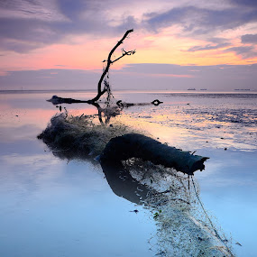 Kelanang's Story - The View Of Low Tide by Syafiqjay  Sj - Landscapes Waterscapes