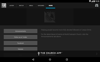 Screenshot of World Outreach Church