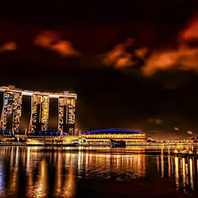 Marina Bay Sands at Night by Gema Goeyardi - Novices Only Landscapes