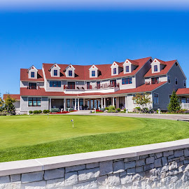 Arcadia Bluffs by Tina Claypool - Buildings & Architecture Other Exteriors ( water, michigan, arcadia bluffs, m22, resaurant, lodge )