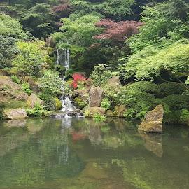 Japanese Garden by Longin Mae Millar - Landscapes Travel ( nature, travel, garden )