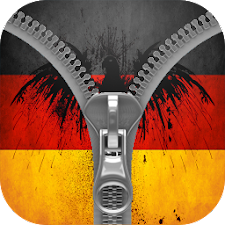 German flag zipper screen lock
