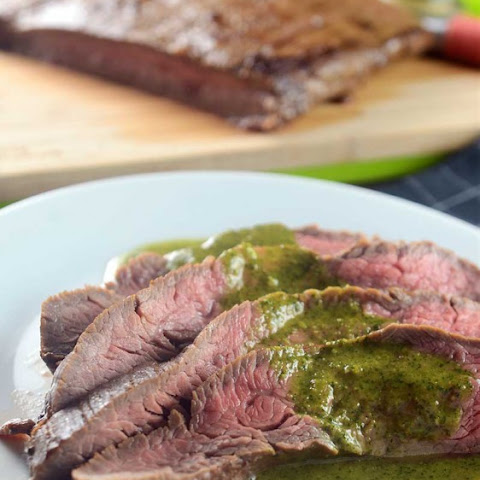 Flank Steak with Asian Chimichurri