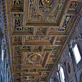 Church ceiling by Jim Antonicello - Buildings & Architecture Places of Worship ( church, rome, art, catheral )