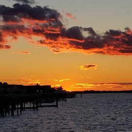 Long Beach New York  by Artie Wagner - Landscapes Sunsets & Sunrises