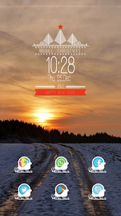 Snow Sunset theme - screenshot