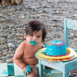 Elijah by Jenny Hammer - Babies & Children Babies ( cake, first birthday, baby, cute, boy )