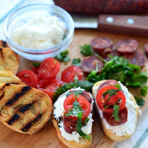 Goat Cheese and Chorizo Crostini
