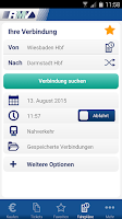 Screenshot of RMV Rhein-Main-Verkehrsverbund