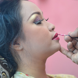 Make Up Sesion by Muhammad Ghifan  Arselan - Wedding Bride ( love, makeup, wedding, pink, beauty in nature )