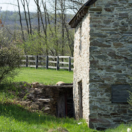 by Petrina Grimes - Buildings & Architecture Other Exteriors ( building, stream, grass, stone, spring,  )