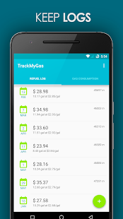 TrackMyGas - screenshot