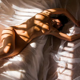 Charlie Draped by Ian Cartwright - Nudes & Boudoir Artistic Nude ( home, art nude, stock, nude, naked, liberated ladies )