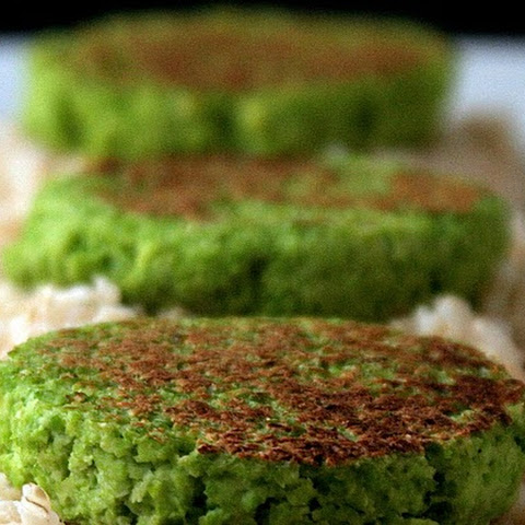 Edamame Cakes with Soy Drizzling Sauce