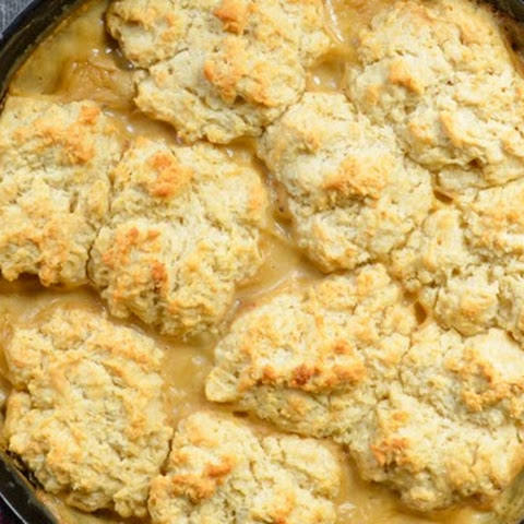 Skillet Biscuits and Sausage Gravy Casserole