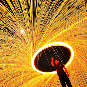 by Azri Suratmin - Abstract Light Painting ( , circle, pwc79, night, lights )