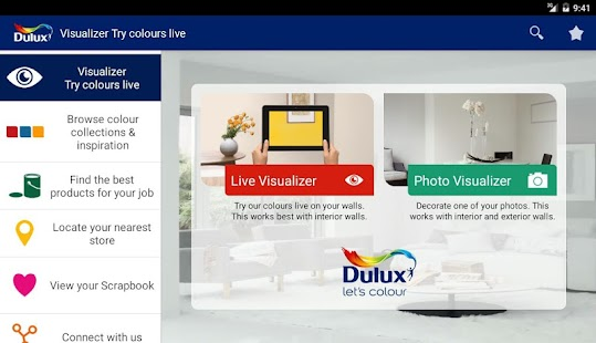 dulux visualizer za free android app market. Black Bedroom Furniture Sets. Home Design Ideas