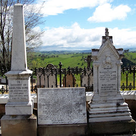 Grave of Hamilton Hume by Sarah Harding - Novices Only Objects & Still Life ( still life, novices only, grave, religious, historic )