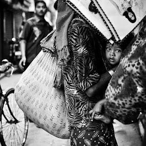 Hanging life by Sudharshun Gopalan - City,  Street & Park  Street Scenes ( hanging life, gopalan, street, parrys, sudharshun, india, chennai )