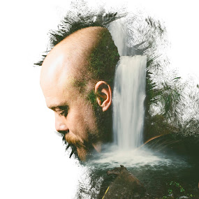 OREGON MAN by Jonathan Stolarski - Digital Art People ( oregon, photoshop art, model, double exposure, portrait )