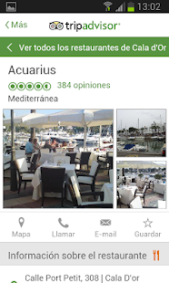 Aquarius Restaurante Cala D'or - screenshot