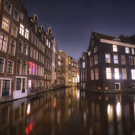 Amsterdam by Adam Lang - City,  Street & Park  Vistas ( water, amsterdam, canal, netherlands )