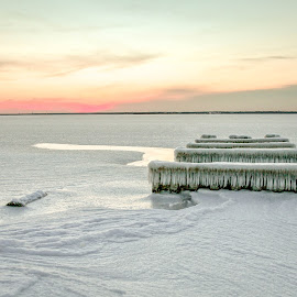 the Frozen bay by Desiree DeLeeuw - Landscapes Weather ( water, winter, ice, snow, frozen, landscapes )