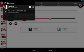 Screenshot of Chérie FM Tablette
