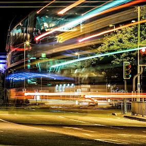 Leeds by Josh Hilton - City,  Street & Park  Street Scenes ( leeds, night )
