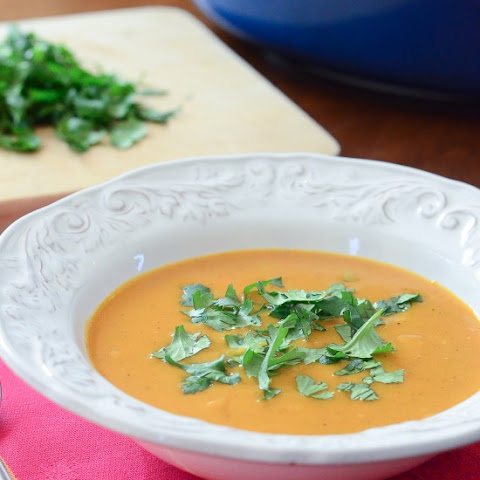 Sweet Potato Coconut Curry Soup