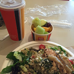 Quinoa and grilled chicken salad delicious!